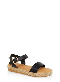 Single Band Espadrille Sandals - 1110004067877