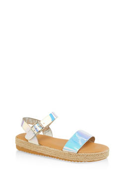 Single Band Espadrille Sandals - 1110004067877