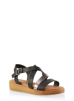 Strappy Platform Sandals - 1110004068276