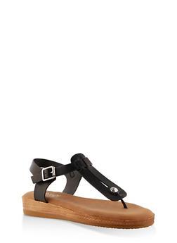 Cut Out Memory Foam Thong Sandals - 1110004068278