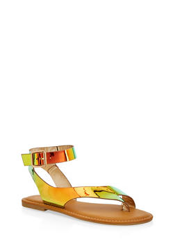 Toe Ring Ankle Strap Sandals - 1110004068484