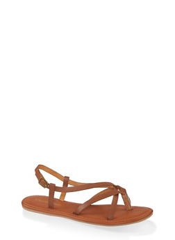 Strappy Toe Loop Sandals - 1110006518363
