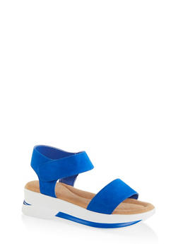 One Band Sporty Ankle Strap Sandals - 1110040522210