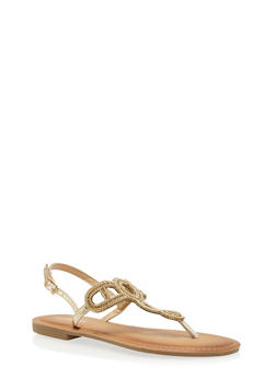 Beaded Loop Thong Sandals - 1110070408266