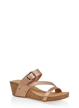 Wedge Slide Sandals - 1110074817866