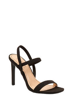 Slingback High Heel Sandals - BLACK SUEDE - 1111004062367
