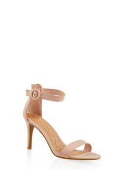 Ankle Strap High Heel Sandals - NUDE - 1111004062529