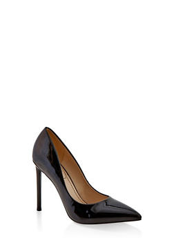 Pointed Toe High Heel Pumps - BLACK PATENT - 1111004062666