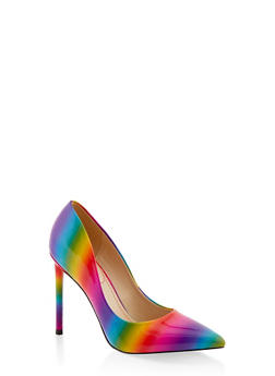 Pointed Toe High Heel Pumps - MULTI COLOR - 1111004062666