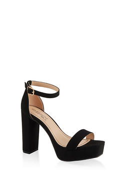 Ankle Strap Platform High Heel Sandals - 1111004062674