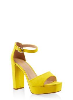 Platform High Heel Sandals - YELLOW S - 1111004062675