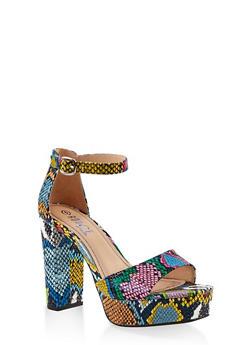 Platform High Heel Sandals - MULTI SKIN - 1111004062675