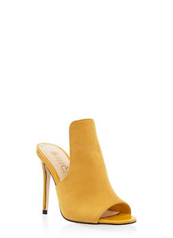 Cut Out High Heel Mules - 1111004063274