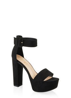 Buckle Ankle Strap Platform Sandals - 1111004063726