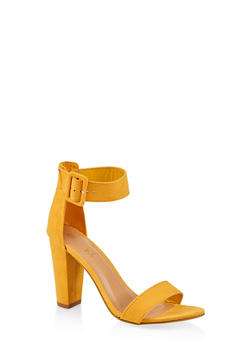 Single Band High Heel Sandals - YELLOW S - 1111004063736