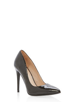 Pointed Toe Stilettos - BLACK PATENT - 1111004064424