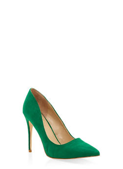 Pointed Toe Stilettos - GREEN - 1111004064424