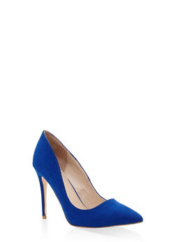 Pointed Toe Stilettos - COBALT S - 1111004064424