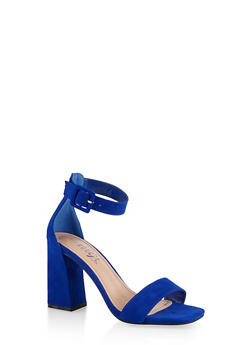 Single Band High Block Heel Sandals - 1111004066427
