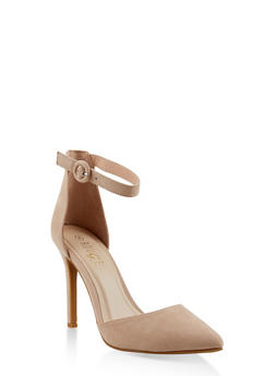 Ankle Strap High Heel Pumps - NUDE - 1111004067542