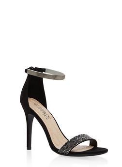 Rhinestone Strap High Heel Sandals - 1111004067697
