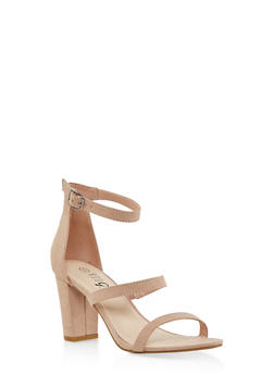 Strappy Block Heel Sandals - 1111004067877