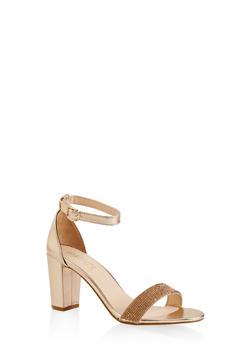 Rhinestone Ankle Strap Sandals - 1111004067878