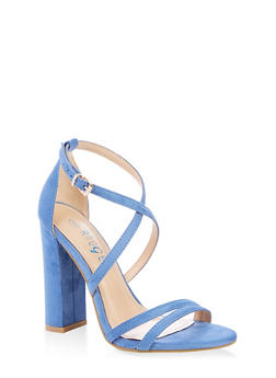 Cross Ankle Strap High Heel Sandals - 1111004067933