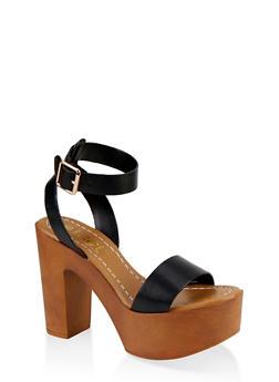 Ankle Strap Platform Sandals - 1111004069664