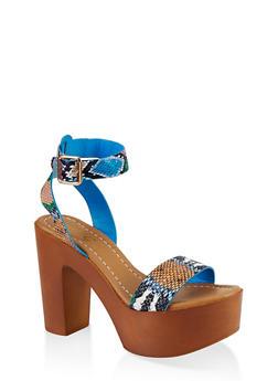 Ankle Strap Platform Sandals - MULTI SKIN - 1111004069664