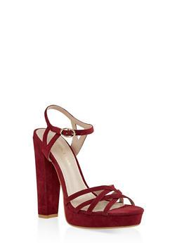 Criss Cross High Heel Sandals - 1111062862262
