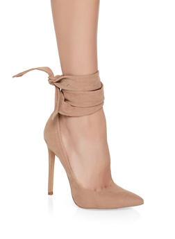 Ankle Wrap High Heel Pumps - TAUPE - 1111062862277