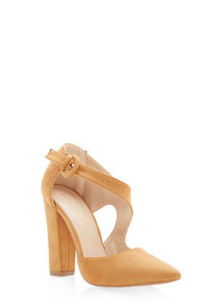Pointed Toe Faux Suede Pumps - 1111062862435