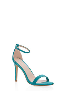 High Heel Ankle Strap Sandals - MINT - 1111074453567
