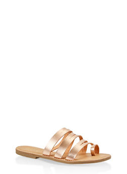 Strappy Toe Ring Slide Sandals - 1112004062471
