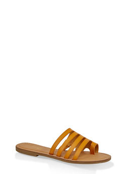 Multi Band Toe Ring Slide Sandals - 1112004062476