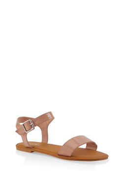 Buckle Ankle Strap Sandals | 1112004062560 - NUDE - 1112004062560