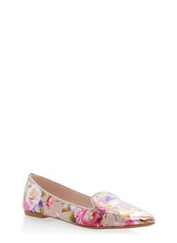 Pointed Toe Flats - BLUSH FABRIC - 1112004062564