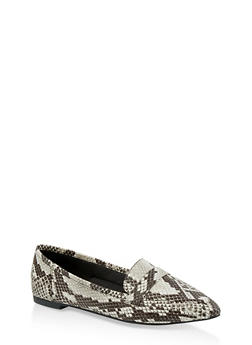 Pointed Toe Loafers - 1112004062566