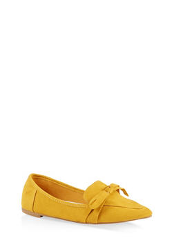 Pointed Toe Bow Flats | 1112004062573 - 1112004062573