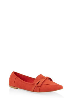 Pointed Toe Bow Flats | 1112004062573 - RUST - 1112004062573