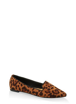 Basic Pointed Toe Flats - LEOPARD PRINT - 1112004062574