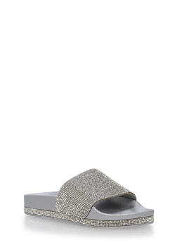 Rhinestone Slide Sandals - 1112004063299