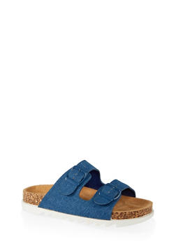 Double Band Footbed Sandals - 1112004063727