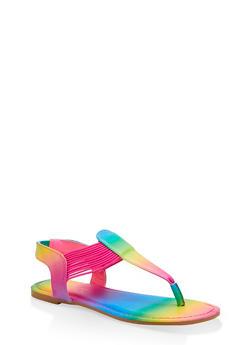 Elastic Cord Thong Sandals - 1112004063867