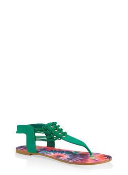 Cord Detail Thong Sandals - 1112004063868