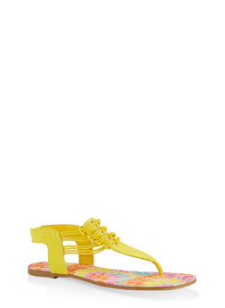 Cord Detail Thong Sandals - 1112004063868