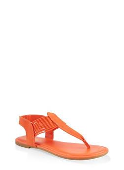 Corded Sling Back Thong Sandals - 1112004063869