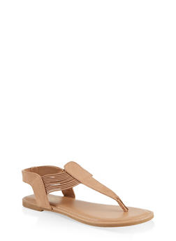 Corded Slingback Thong Sandals - 1112004063869
