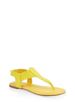 Corded Sling Back Thong Sandals - 1112004063869